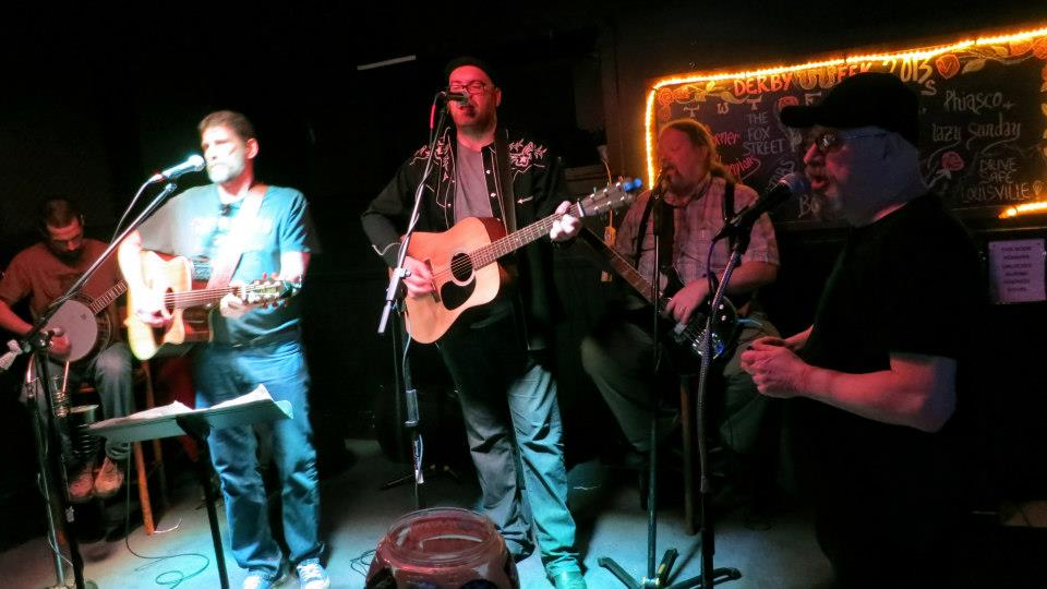 Michael Raymer playing the Harp with Tom Boone and the Back Porch Pickers