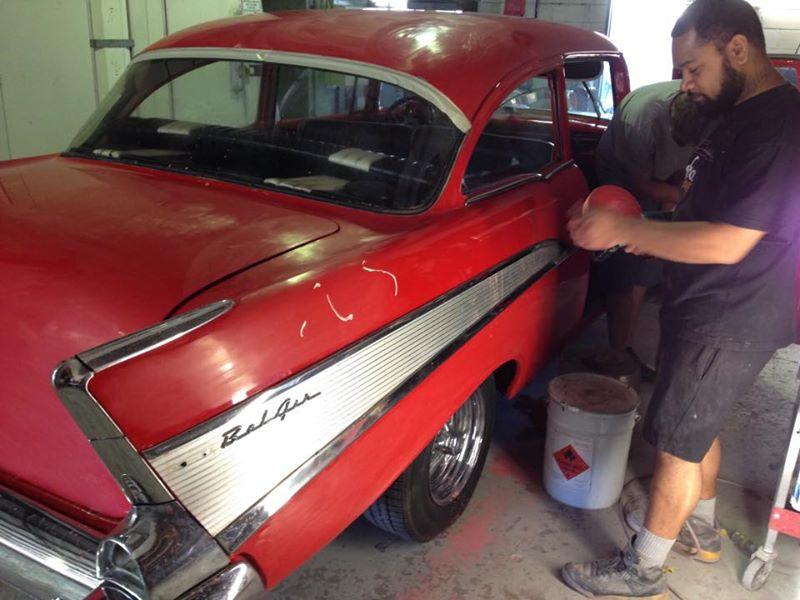 1957 Chevrolet 2 door post for sale - australia - ol' school garage (3).jpg