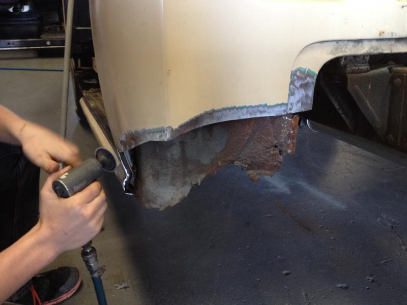 55 Chev pickup truck restoration - ol' school garage (6).jpg