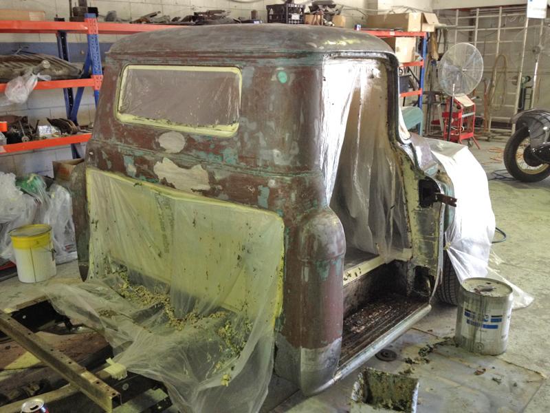 55 Chev pickup truck restoration - ol' school garage (12).jpg