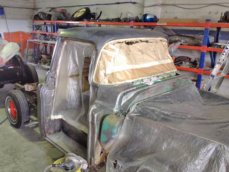 55 Chev pickup truck restoration - ol' school garage (13).jpg