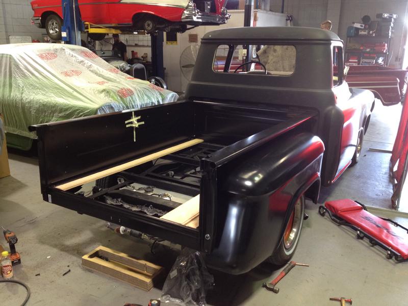 55 Chev pickup truck restoration - ol' school garage (34).jpg