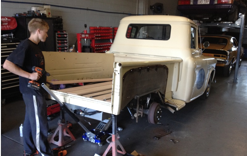 1955 Chevrolet PIckup Truck Restoration - Ol' School Garage (1).JPG