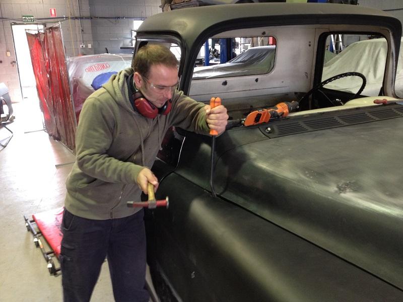 1955 Chevrolet PIckup Truck Restoration - Ol' School Garage (31).JPG