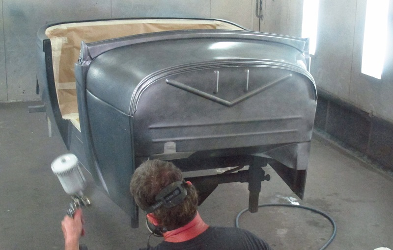 1929 Model A Hot Rod Roadster Ford - Paint Job (7).JPG