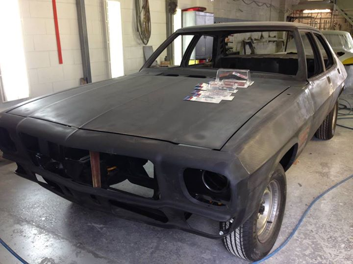 Metalwork on the HQ has been completed except for trial fitting the GTS badging...bodywork should commence next week.