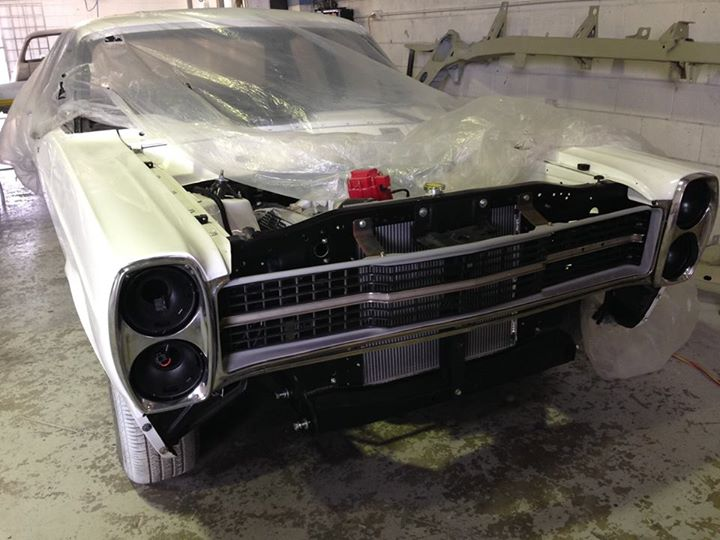 Andrew continues work on reconditioning and assembly our ZC Fairlane project...it will be mint when he is done with it! New trim going in later this week.