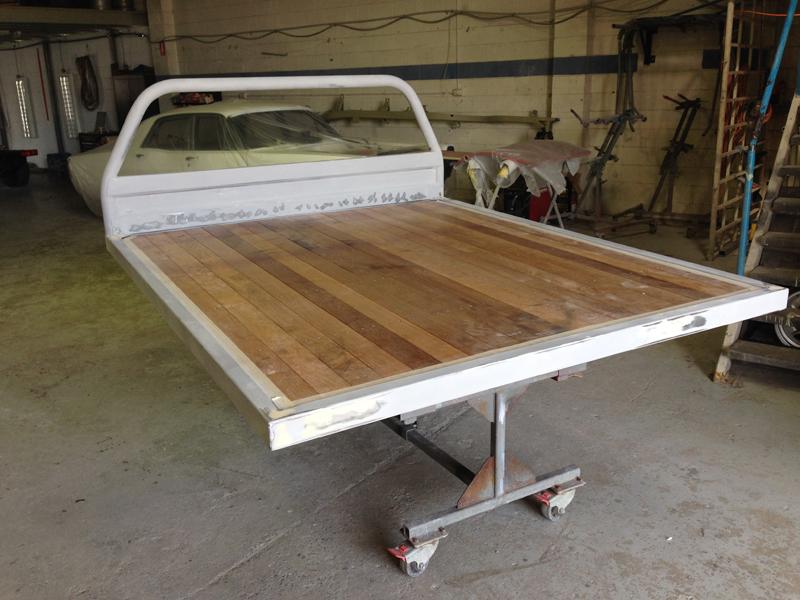 Holden HJ 1 tonner ute restoration - Ol' School Garage - Absinth Yellow (30).jpg