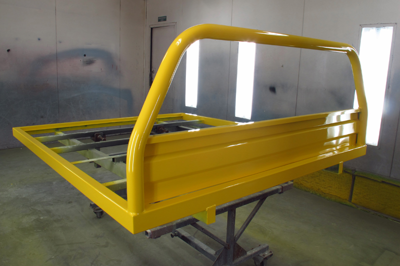 Holden HJ 1 tonner ute restoration - Ol' School Garage - Absinth Yellow (11).jpg