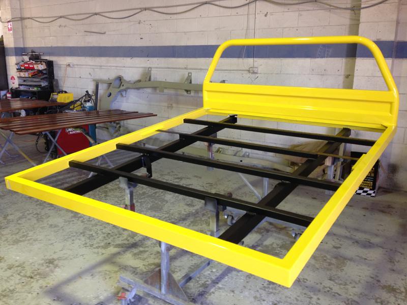 Holden HJ 1 tonner ute restoration - Ol' School Garage - Absinth Yellow (9).jpg