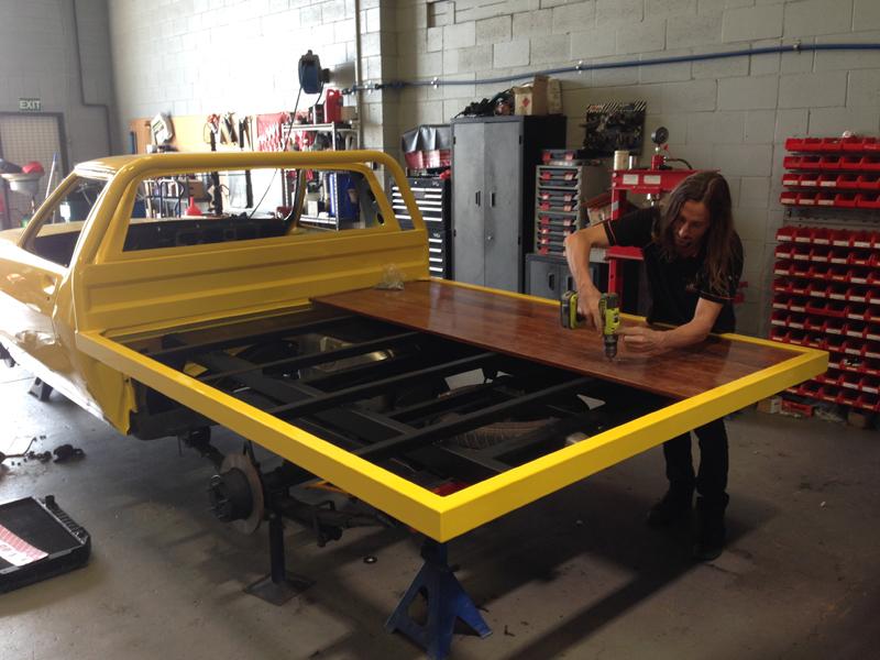 Holden HJ 1 tonner ute restoration - Ol' School Garage - Absinth Yellow (5).jpg