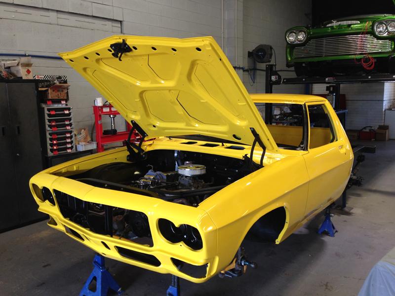 Holden HJ 1 tonner ute restoration - Ol' School Garage - Absinth Yellow (10).jpg