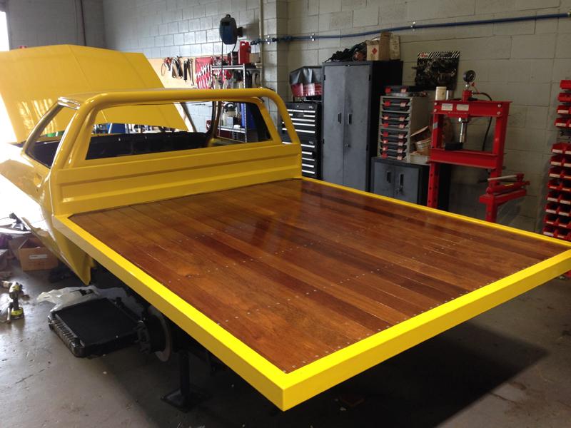 Holden HJ 1 tonner ute restoration - Ol' School Garage - Absinth Yellow (1).jpg