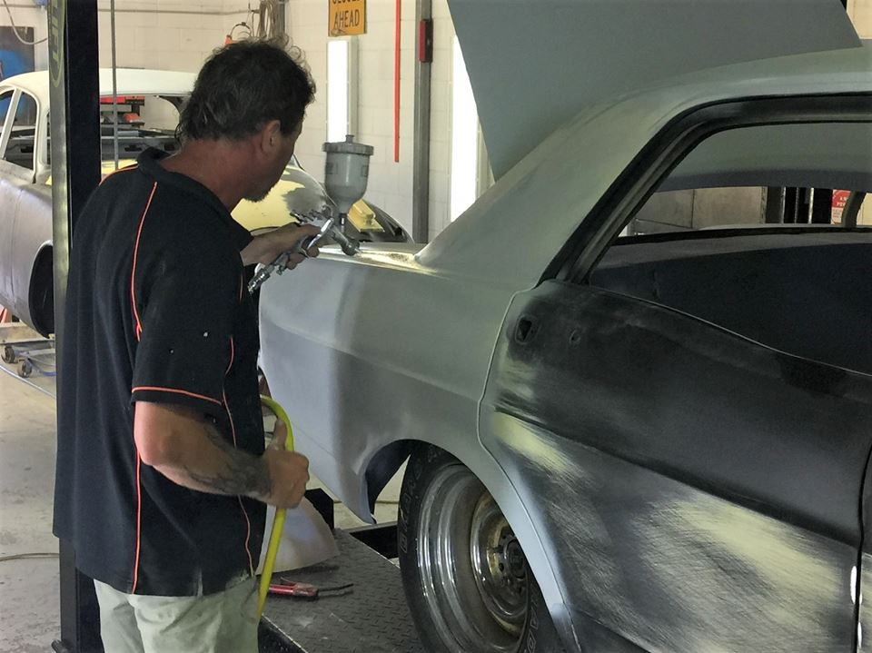 Jamie is planning to finish the first round of the body work on the XY.
