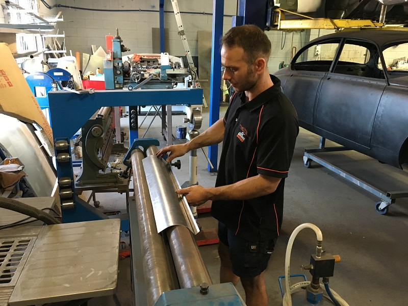 66 mustang convertible - metal fabrication.JPG