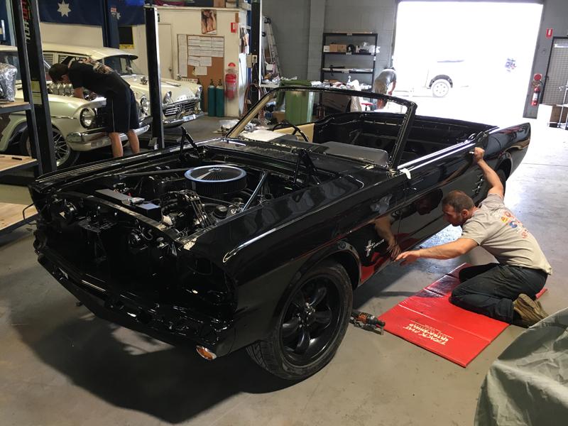 66 Ford Mustang Convertible Black - Restoration Brisbane (1).jpg