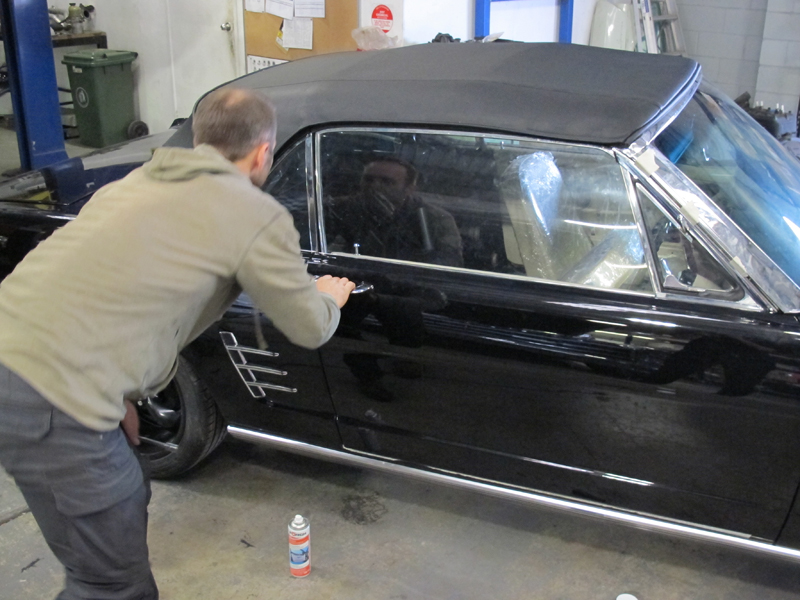 66 Ford Mustang Convertible Black - Restoration Brisbane (7).jpg