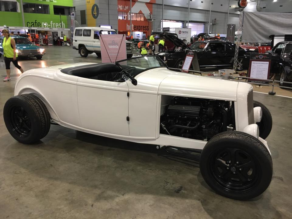 My '32 Roadster is back again this year...and it's almost finished. Customer cars take priority, so it gets worked on only when someone had a bit of spare time.