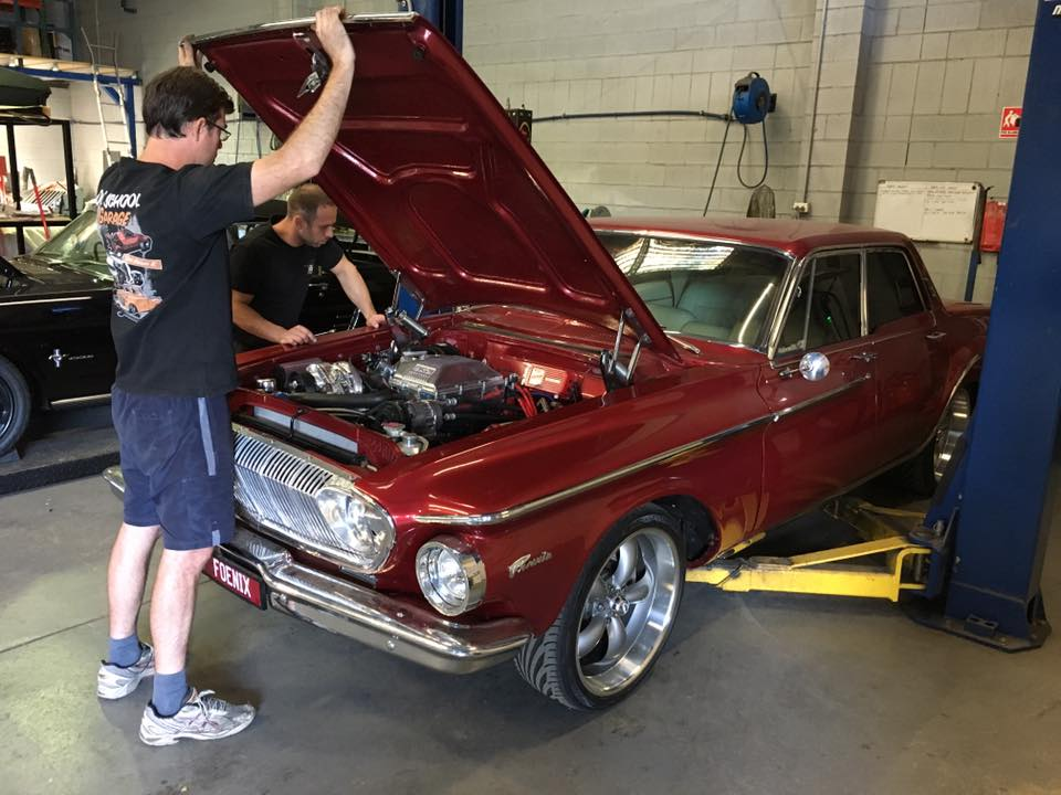 The rebuilt engine is back in the '62 Phoenix, so the power steering conversion can start.