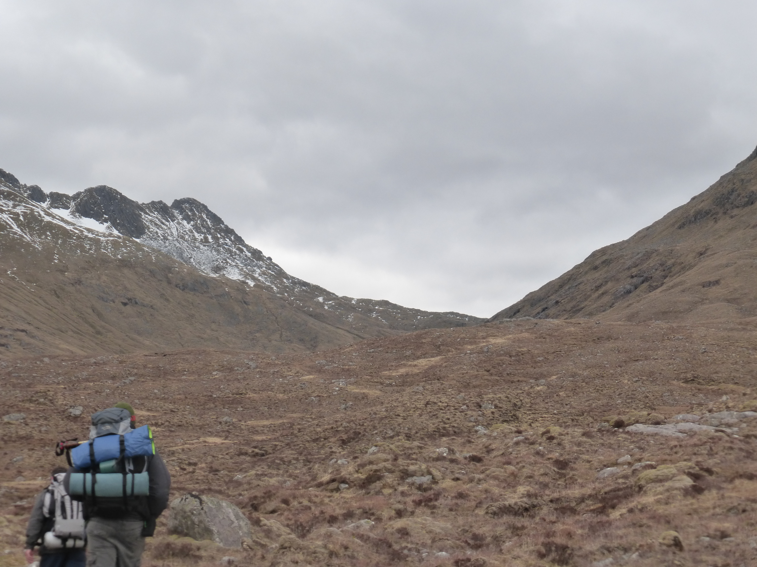 The pathless climb to the bealach between The Saddle and Sgurr Na Sgine doesn't look too bad - until you actual climb it.