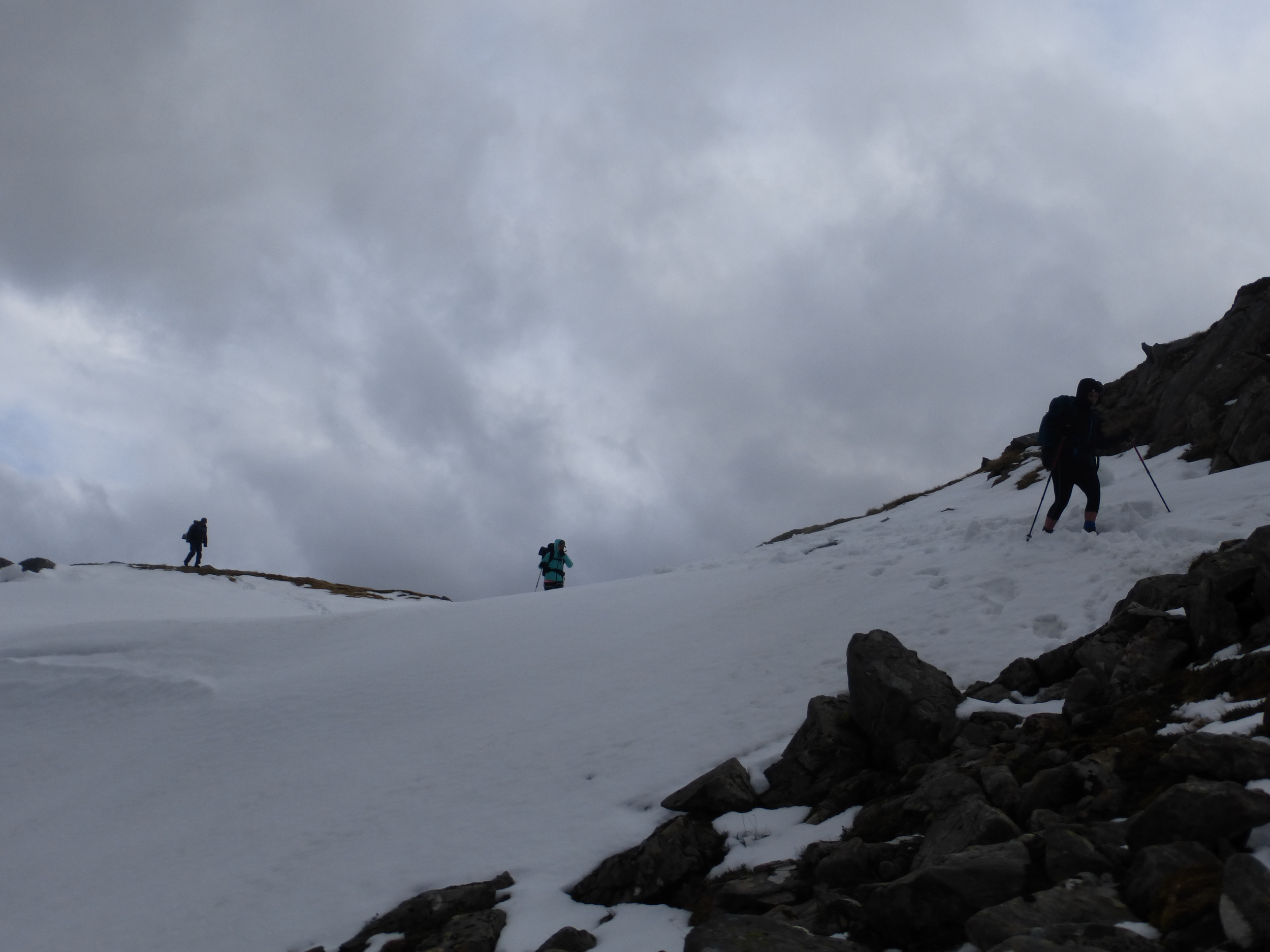 Things were a bit treacherous at Forcan Ridge until we found the path