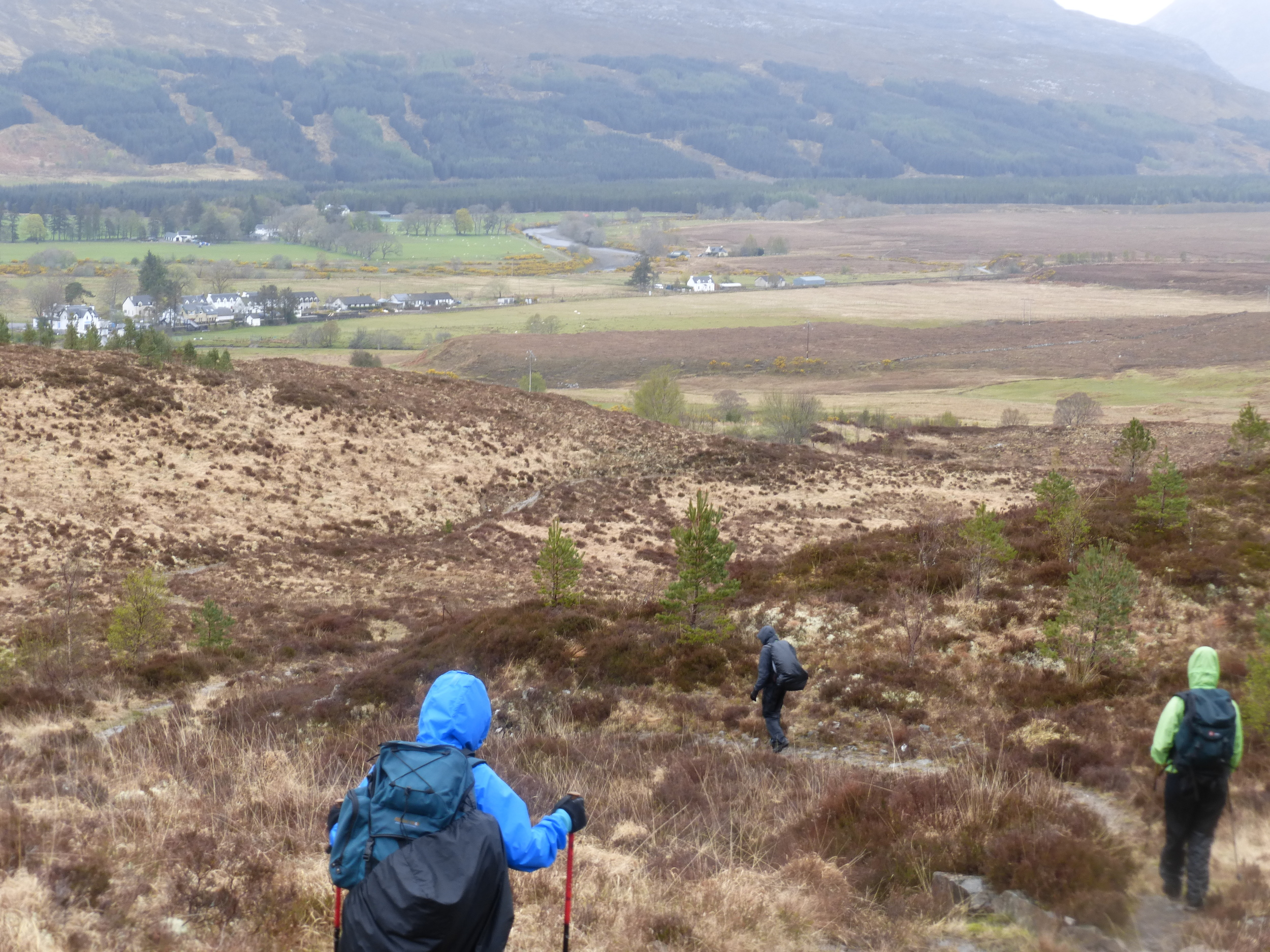 Nearly there.  The team edges closer to Strathcarron in the distance