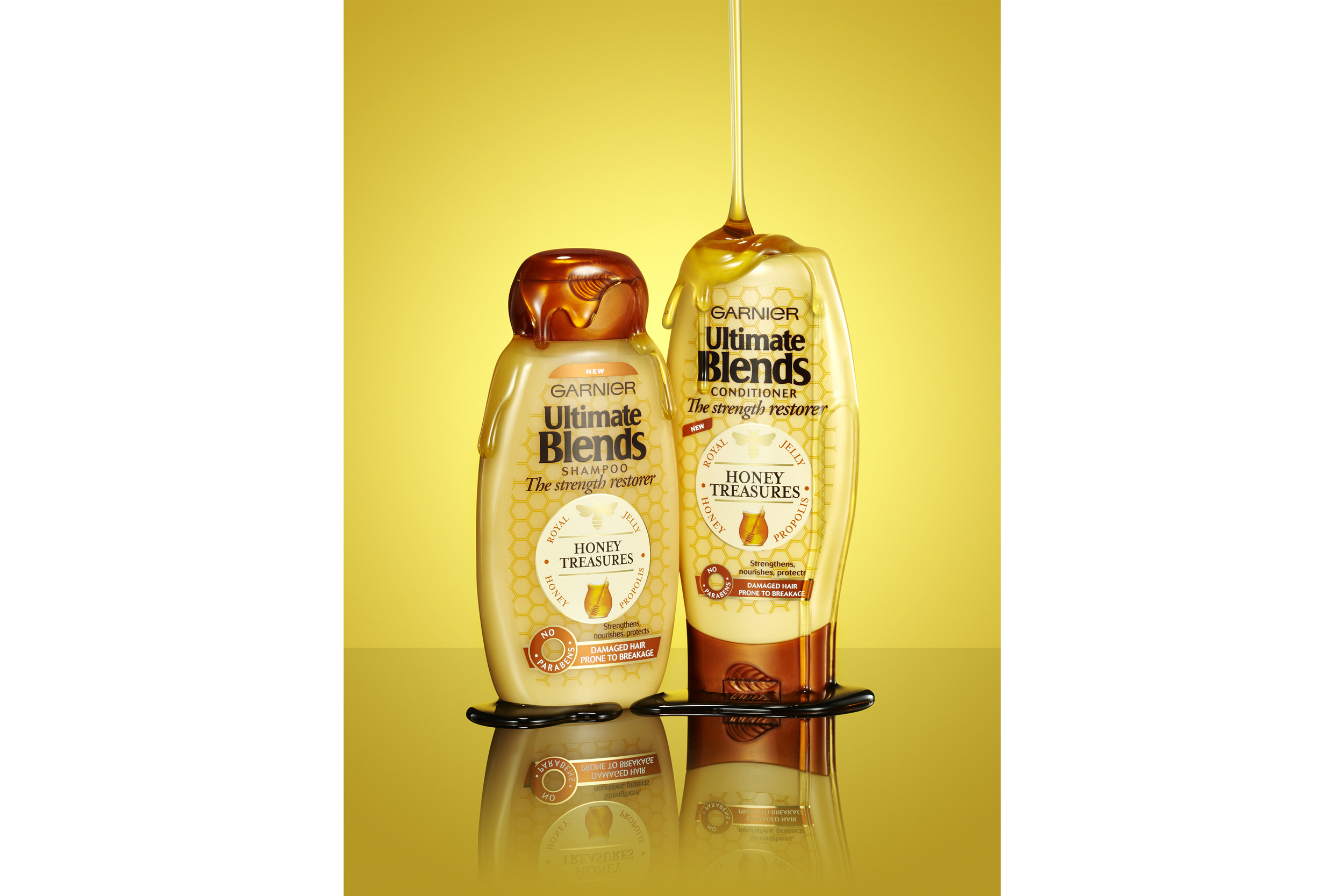 Garnier Ultimate Blends Honey Treasures Shampoo and Conditioner