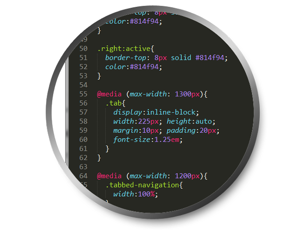 An excerpt of the CSS added to make the design play nicely on any screen size.