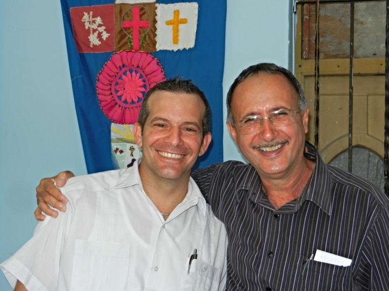 Rev. Yoelkis Sierra (l) is a recent graduate of SET. Mentored by Rev. Abel Mirabel (r) during his internship, Yoelkis now pastors a congregation on the outskirts of Havana which runs an outreach ministry to those living with the physical, emotional, and spiritual challenges of HIV/AIDs.