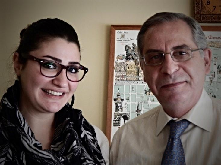 Mathild with NEST's Dr. George Sabra