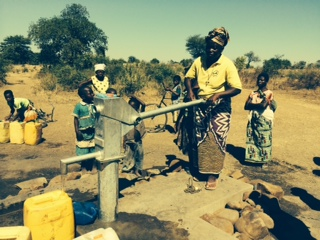 The new well at Chazia, improving the lives of the villagers.