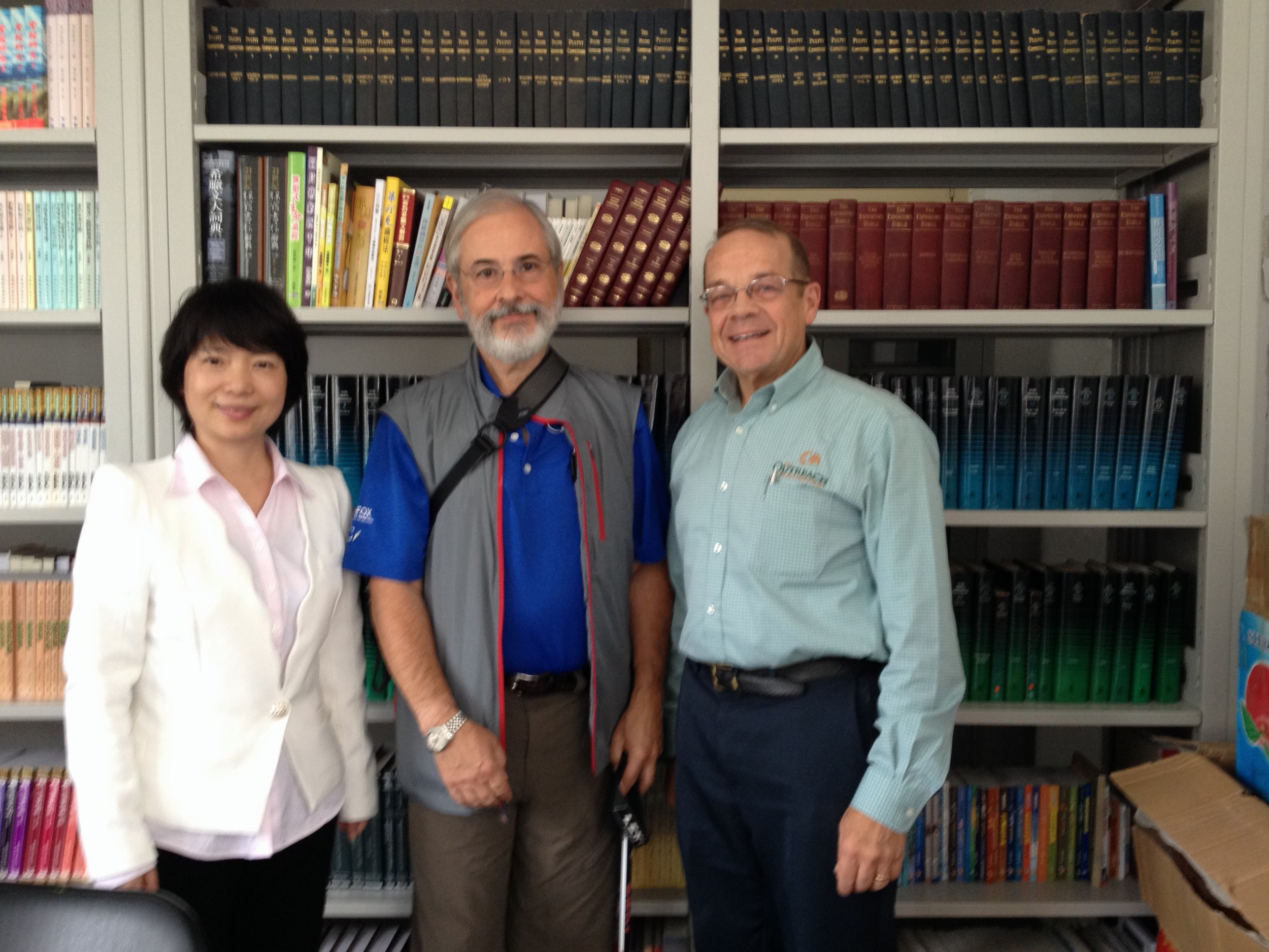 Dr. Fan, Ed Wood of Shadyside Presbyterian Church, Pittsburgh, and Jeff Ritchie with The Outreach Foundation