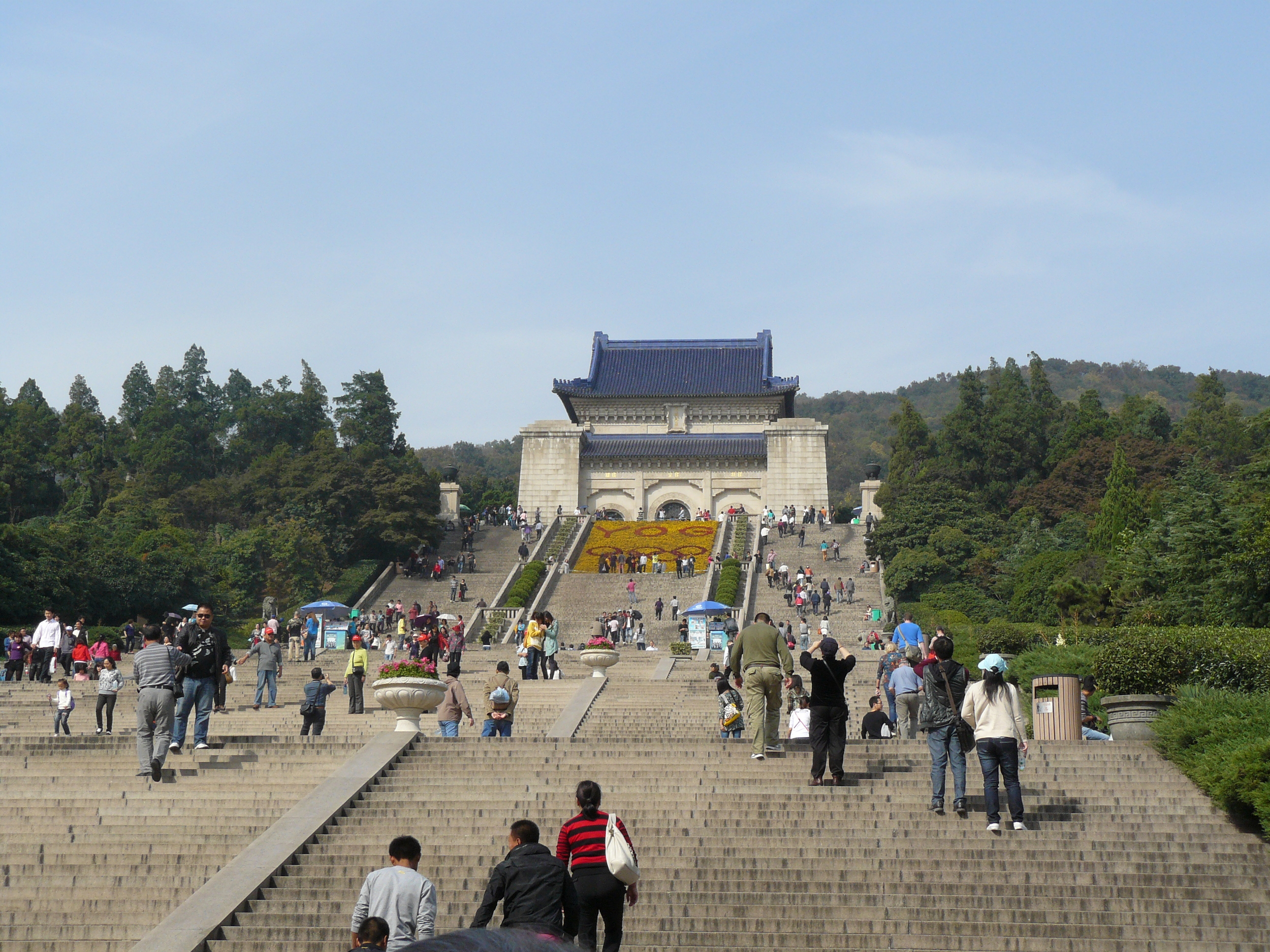 The Mausoleum, and all its stairs (!)  of  Dr. Sun Yat-Sen