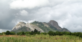 A view of the landscape of Mozambique