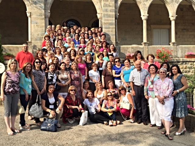 Here we are, the women of the 2015 evangelical women's conference at Dhour Choieur in Lebanon. Lebanon, Syria, Iraq and the U.S.