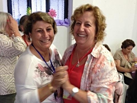 Samiya Eliya of Malkieh (it's a beautiful rhyme!) and Patti dancing the night away.