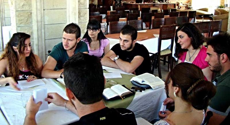 Syria Appeal September 2015 group at table.jpg