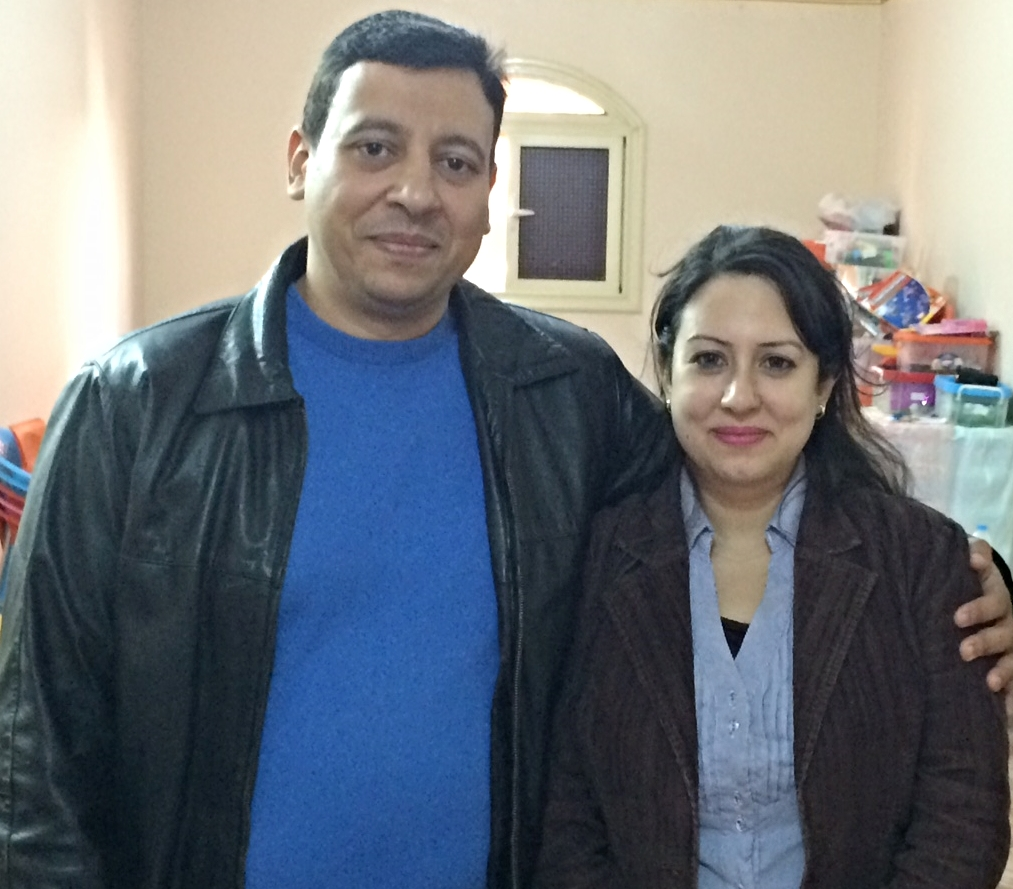 The young pastor, Tamer, and his wife, Mariam, who pastor a new church development I Sheik Zayed city. They meet in a small flat and are busy meeting families and inviting them to worship.