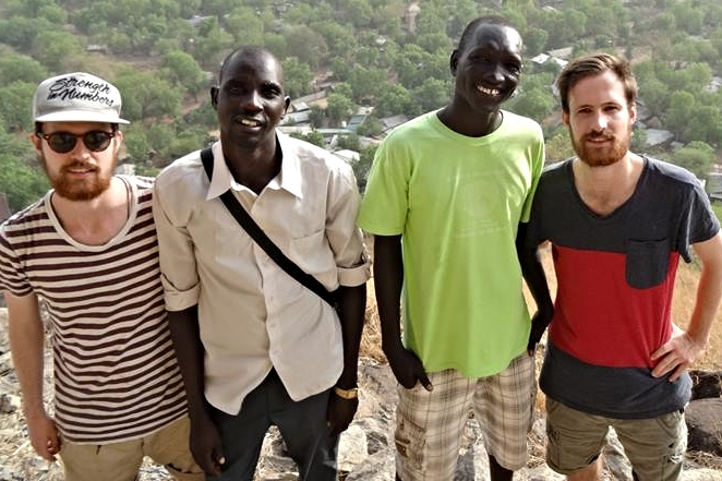 Vincent, Jesse and friends in Ethiopia