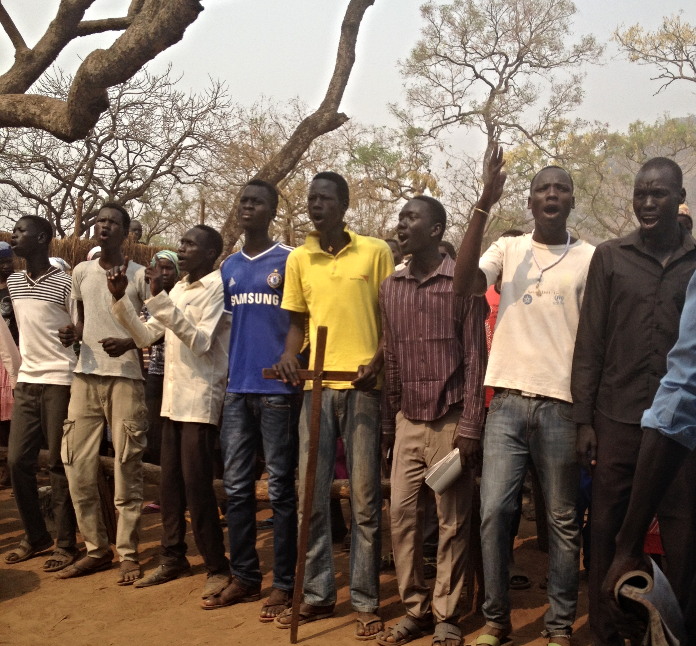 Youth from camp in Gambella, Ethiopia