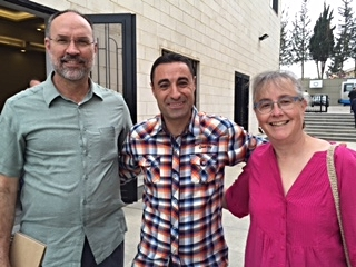 Steve and Julie Burgess with Rabieh church member