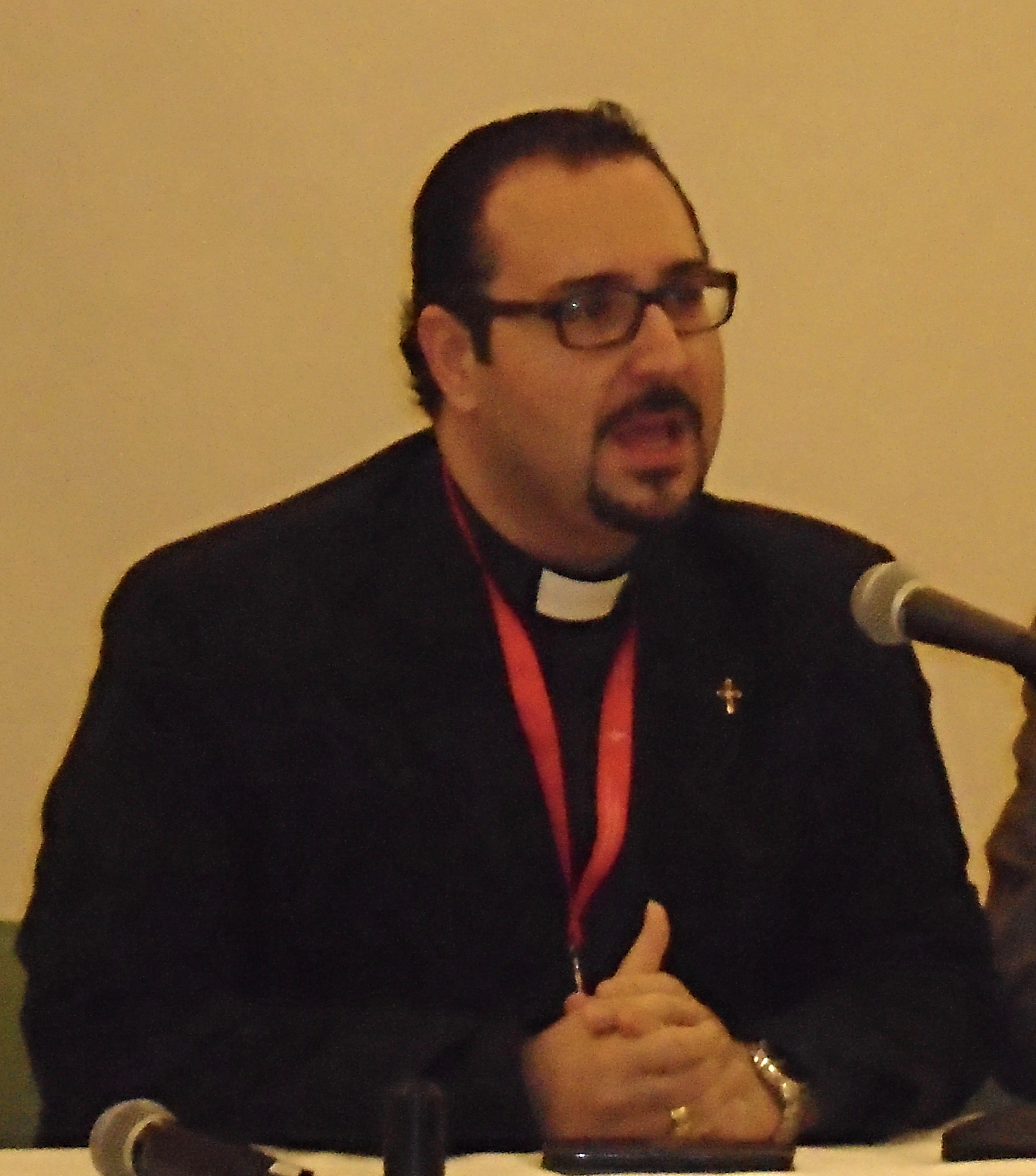 Rev. Jacob Sabbaagh, pastor of the church in Fairouzeh