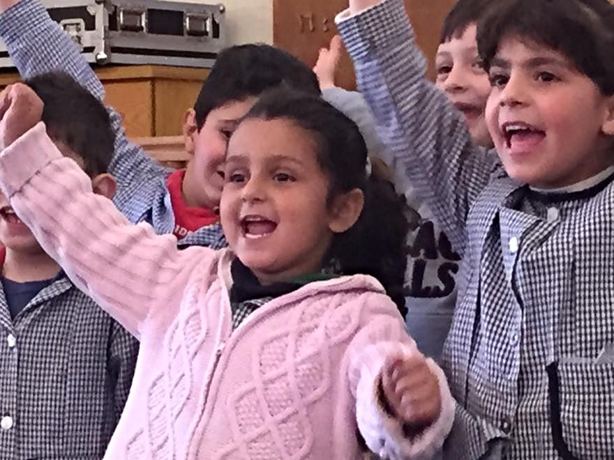 Sweet Bloudan kindergarten children led us in worship.