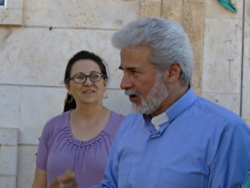 Assis Ma'an Bitar and his wife Gwath Hanna of the Mahardeh church. Ma'an also serves in nearby Hama.