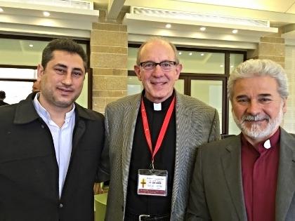 Rob Weingartner with Rev. Firas Farah of Qamishli and Rev. Ma'an Bitar of Mhardeh