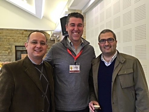 Ryan Moore with Rev. Salam Hanna and candidate-for-ministry Elias Jabbour of Latakia