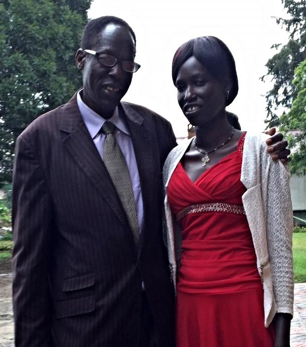 Joseph and his daughter, Nyachan