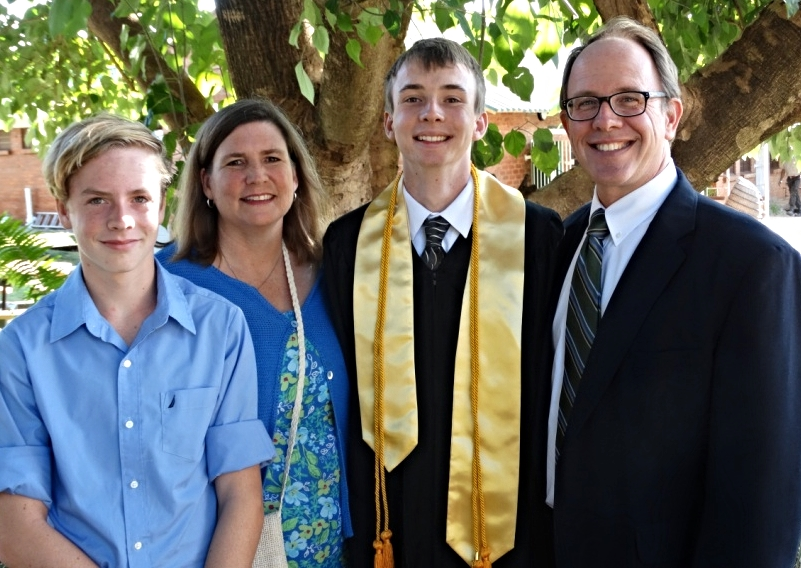 Our family on Clayton's high school graduation day