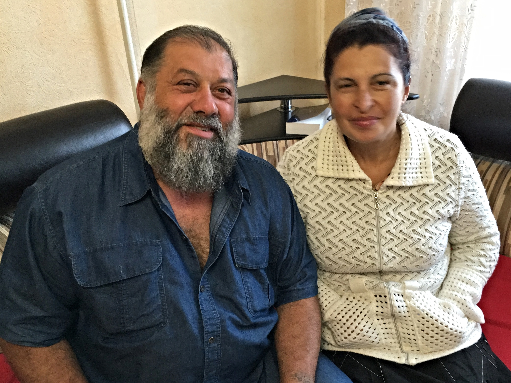Pastor Andre Beskorovaini and his wife, Larissa