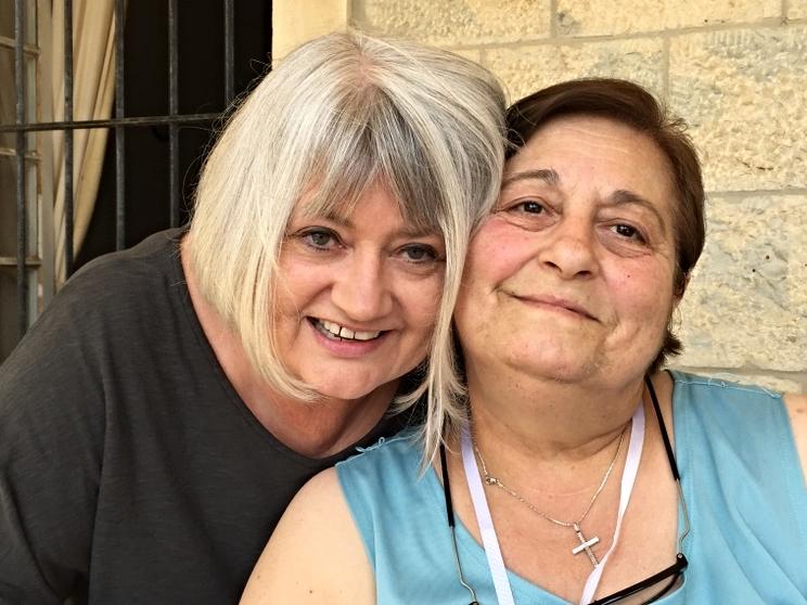 Marilyn and Maha from Marjayoun in Lebanon